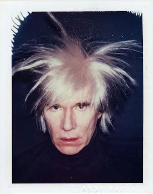 andy warhol wig polaroid portrait