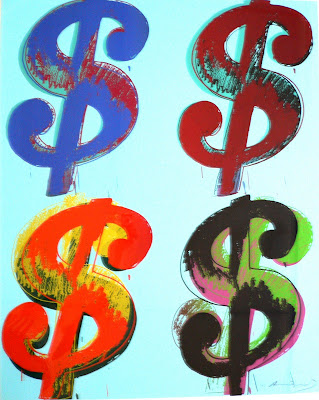 Quadrant Dollar Signs andy warhol hires