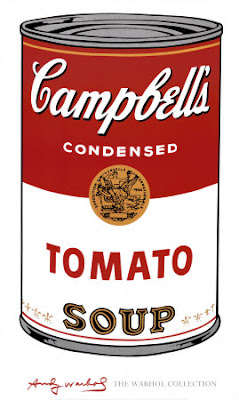 campbell's tomato soup by andy warhol