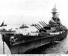 USS Missouri (BB-63) in Tokyo Bay