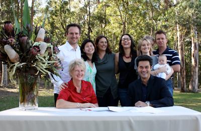 Roger, Katrina, John, Penny, Ros, Simone, Karen, Conrad and the kids at the XL Nation official signing