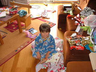 Phoenix with Presents and Paper