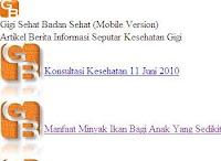 GigiSehatBadanSehat versi mobile