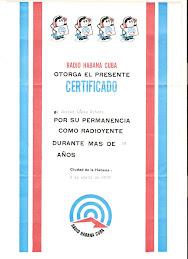 CERTIFICADO DE RADIO OYENTE