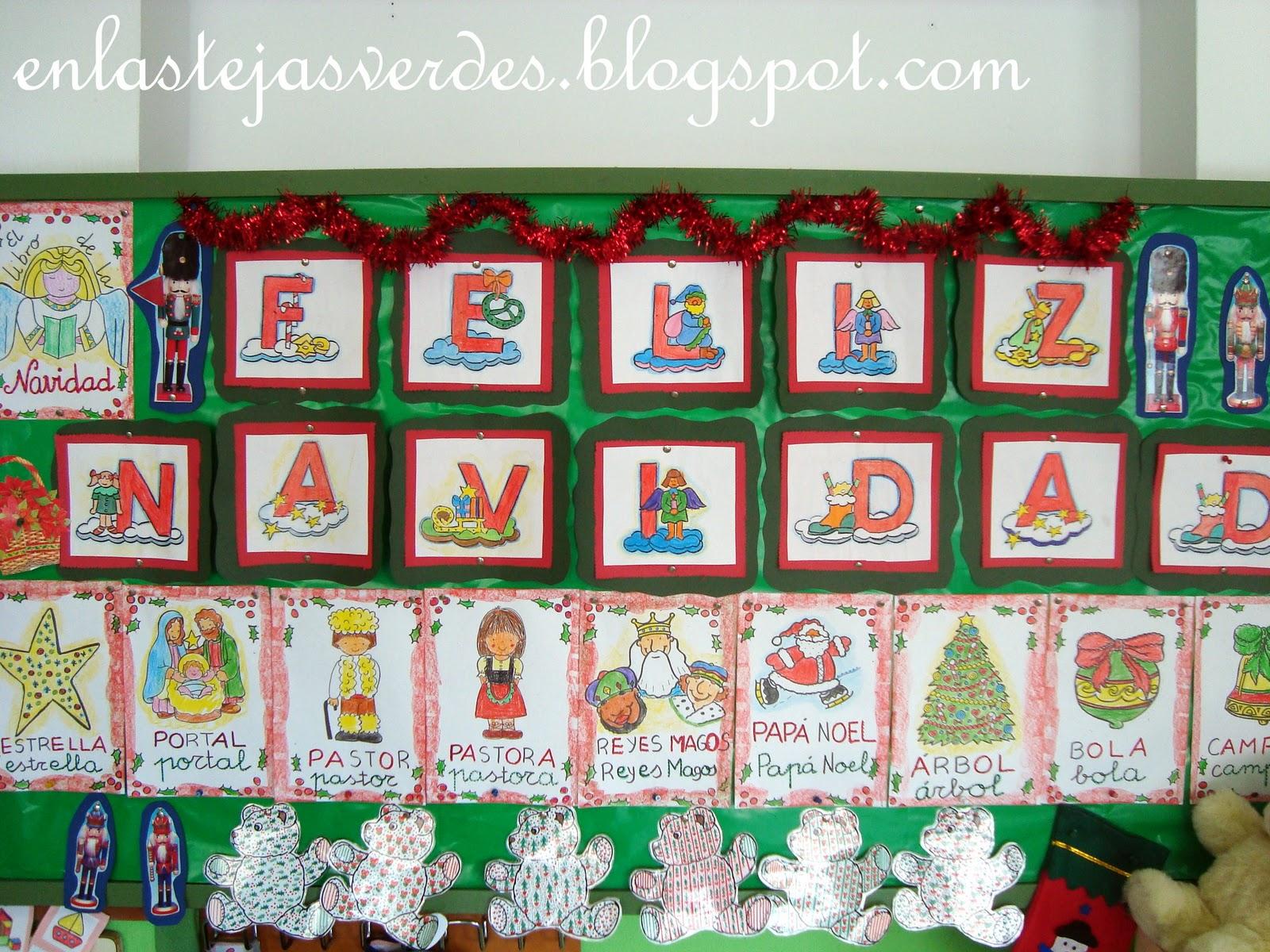 Tejas verdes mural y libro de la navidad - Mural navidad infantil ...
