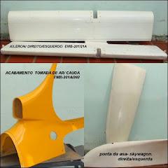 AILLERON/ DIREITO /ESQUERDO.ACABAMENTO, TOMADA DE AR DA CAUDA- EMB-211A202