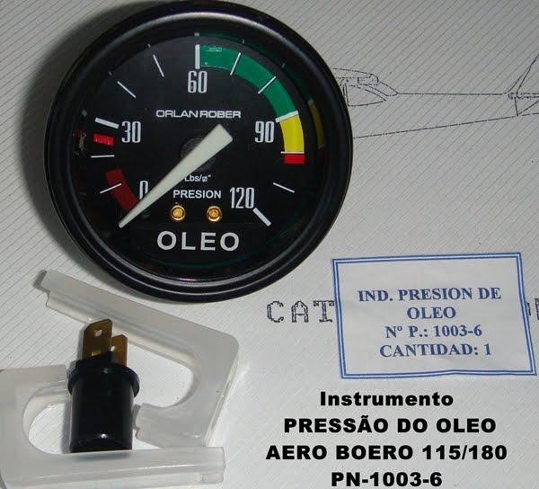 INSTRUMENTOS - INDICADOR DA PRESSÃO DO OLEO