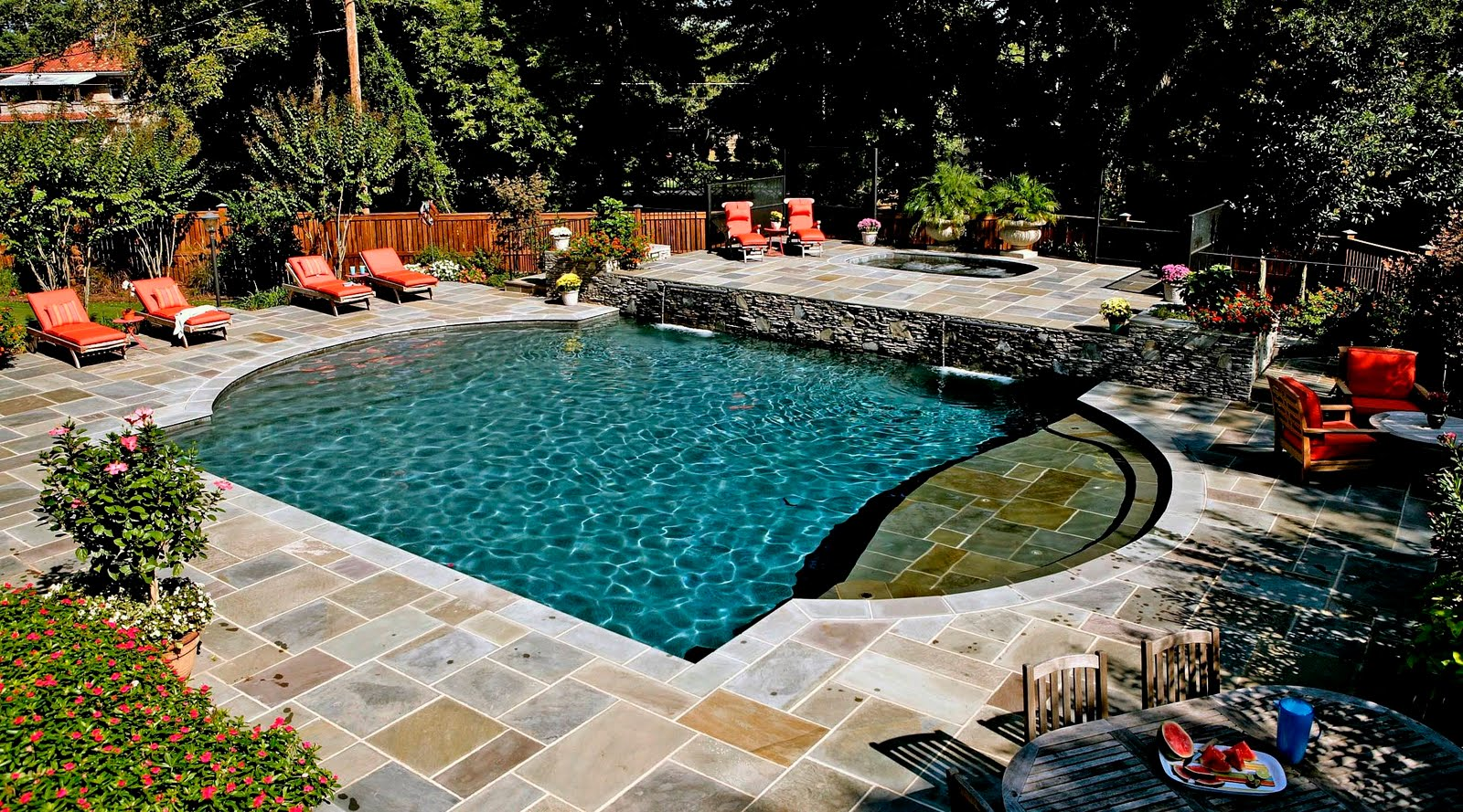 Custom north carolina swimming pools for Pool design raleigh nc