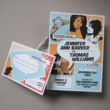 Quirky Wedding Invitations by Baumbirdy Designs