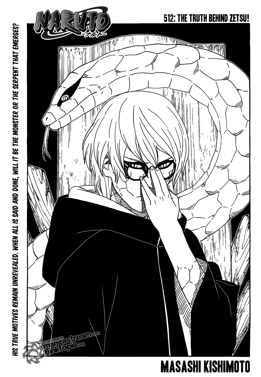 Naruto Shippuden Chapter - 512 [The Truth Behind Zetsu]