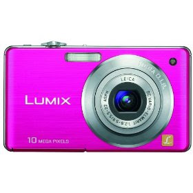 Panasonic Lumix DMC-FS7 10MP Digital Camera with 4x MEGA Optical Image Stabilized Zoom and 2.7 inch LCD (Pink)