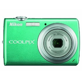 Nikon Coolpix S220 10MP Digital Camera with 3x Optical Zoom and 2.5 inch LCD (Aqua Green)