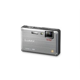 Panasonic Lumix DMC-TS1 12MP Digital Camera with 4.6x Wide Angle MEGA Optical Image Stabilized Zoom and 2.7 inch LCD (Silver)