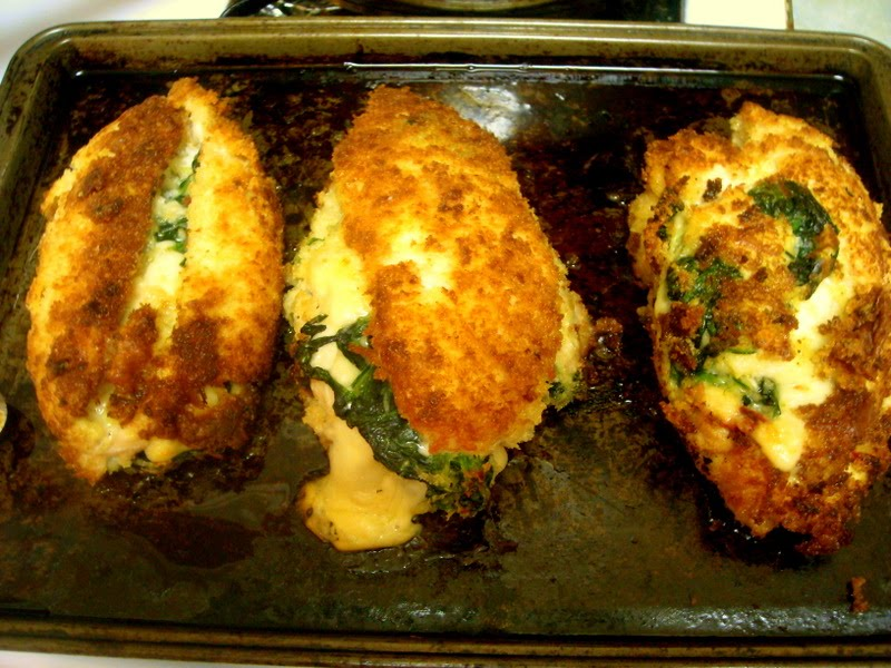 Recipe for stuffed chicken breast with spinach