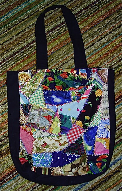 Large Crazy Patchwork Bag
