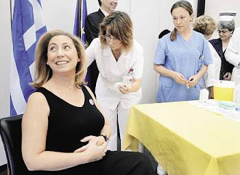 η mar-elisa σε...  διαφημιστικο σποτ για το εμβολιο της γριππης