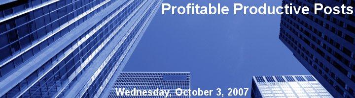 Profitable Productive Posts
