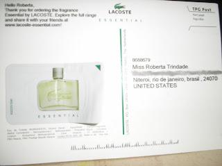 Amostra Gratis Perfume 'Essential' da Lacoste