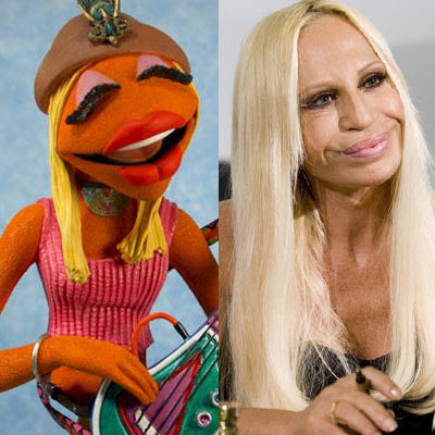 Donatella Versace Muppet Look Alike