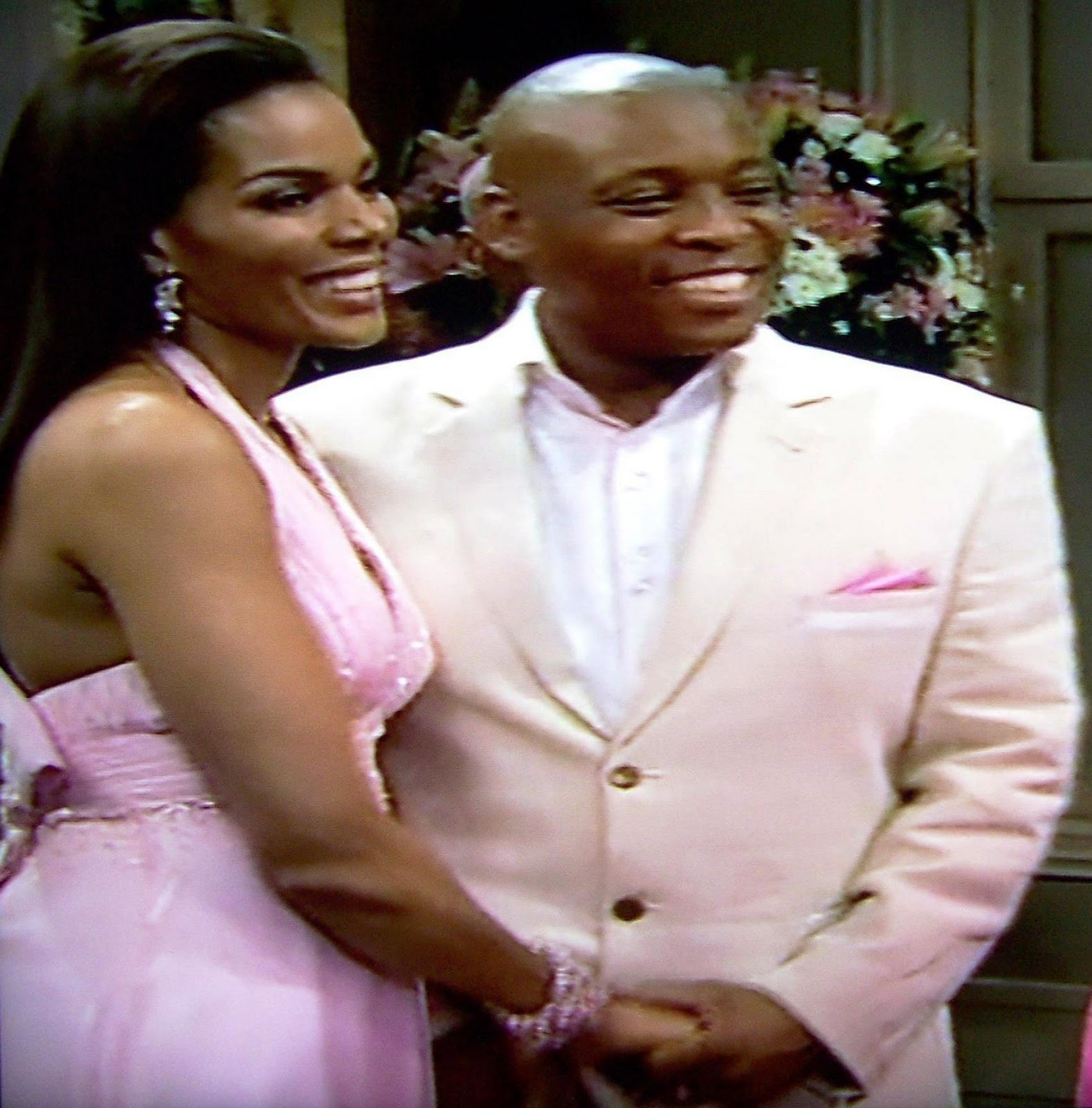 Tau in a pink wedding in Connie Ferguson's final Generations episode
