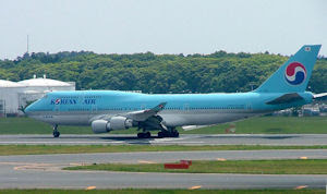 A Korean Airlines Boeing 747