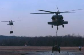 A UH-60 Black Hawk helicopter at Davison Army Airfield