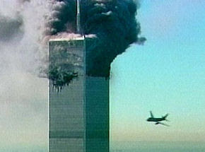 Flight 175 approaching the World Trade Center