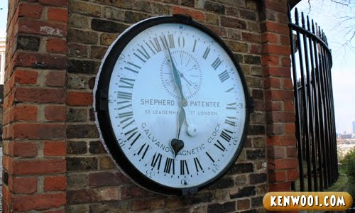 london greenwich park shepherd gate clock
