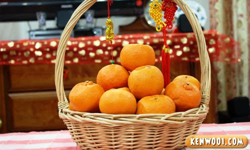 chinese new year mandarin oranges
