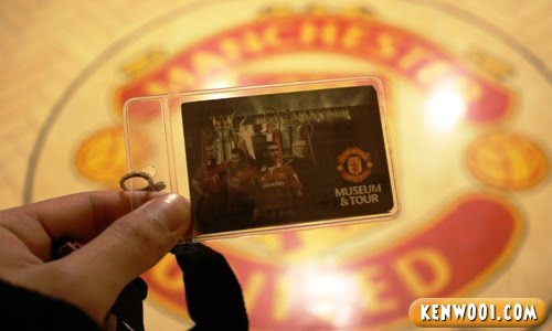 old trafford stadium tour ticket tag