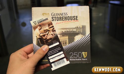 guinness storehouse pint ticket