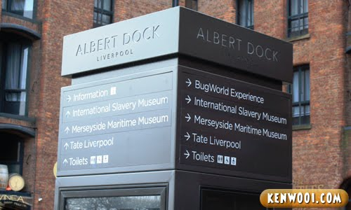 liverpool albert dock signs