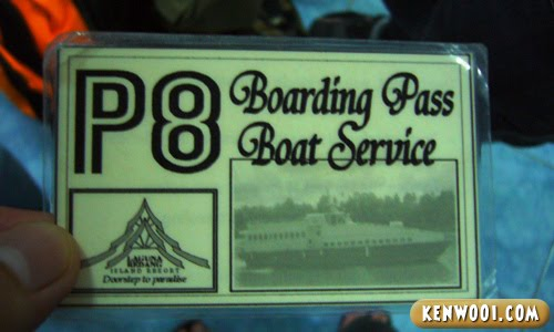 redang boat ticket