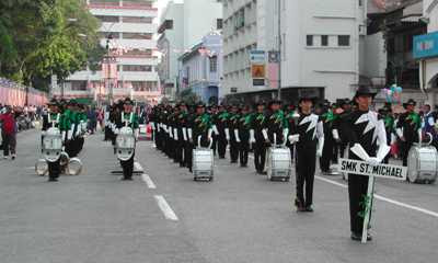 merdeka marching parade