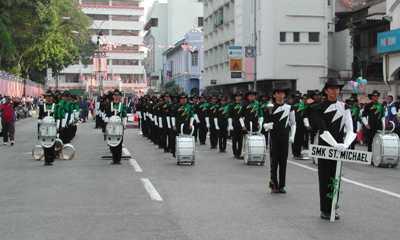 merdeka marching parade