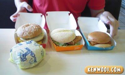 four mcdonald burgers