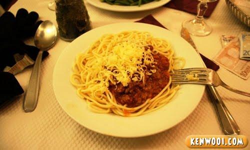paris spaghetti bolognaise