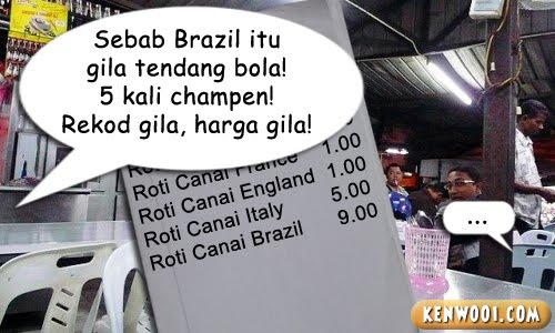 mamak roti canai price