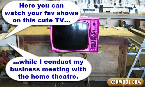 mini pink tv