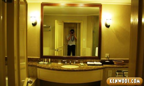 hotel nikko toilet mirror