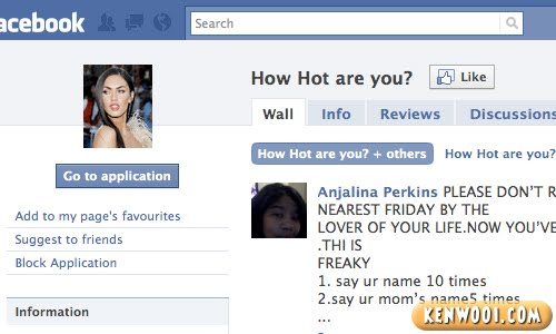 facebook how hot are you