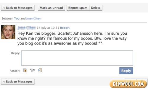 scarlett johansson facebook