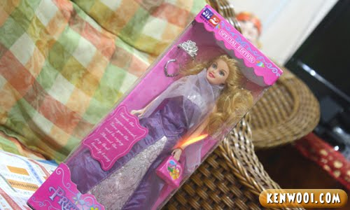 barbie doll in box