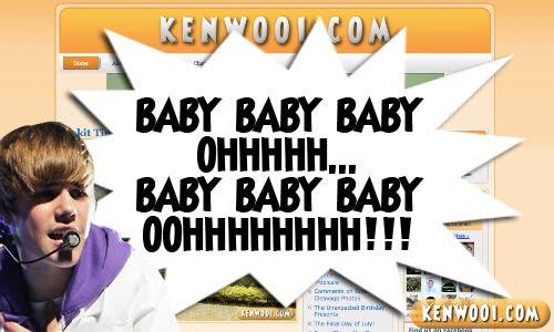 bieber singing baby