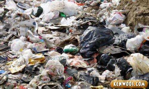 thrown plastic bags