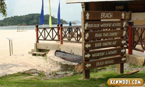 berjaya langkawi beach signboard