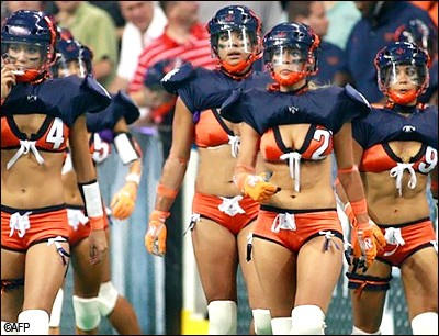 Lingerie football and mtv