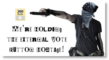 Pligg External Vote Button Taken Hostage