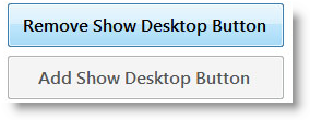 Remove Show Desktop Windows 7