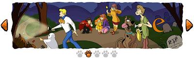 Halloween y Scooby-Doo en logo de google